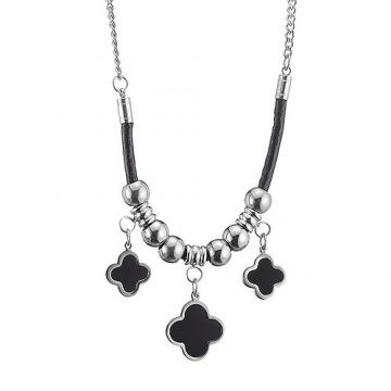 VCA Magic Alhambra Silver Chain Necklace Decked Bead Black Clover  Charm Australia Sale 2018 Women