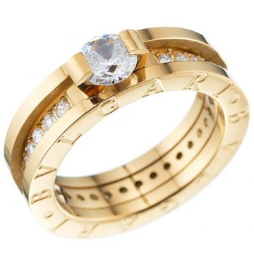 Bvlgari B.zero1 Yellow Gold-plated Ring Crystals Luxurious Style Women New Arrival Online Shop NYC