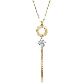 Cartier Love Yellow Gold-plated Circle Pendant Crystals Tassel Necklace Party For Elegant Lady Price India