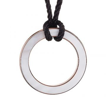 Women Bvlgari Bvlgari Pearl Face Cord Necklace Rose Gold-plated Pendant Dating Gift Price Canada