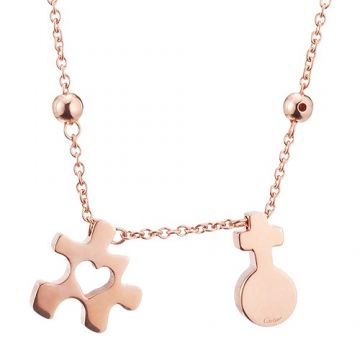 Top Sale Cartier Imitation Puzzle Pendant Rose Gold-plated Necklace Philippine Price Lady Best Review