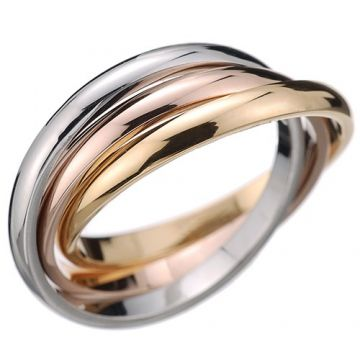 Replica Trinity De Cartier White/Rose/Yellow Gold-plated Ring For Women Fashion Design Price List Sydney B4052700