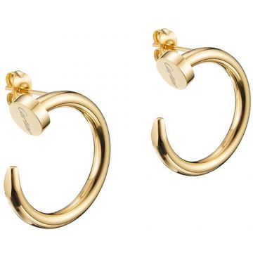 Cartier Juste Un Clou Replica Gold-plated Nail Shape Hoop Earrings Celebrities Newest Design Women