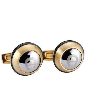 Aigner Silver Symbol Rose Gold-plated Cufflinks Black Side Business Style Australia Price 2018 Men Gift