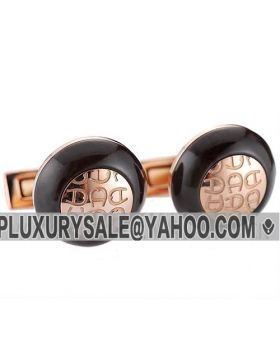 Aigner Men Rose Gold-plated Round Cufflinks Retro Style A Logo Wood Sale Sydney
