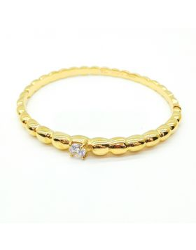 VCA Perlee Perles d'Or Silver Rose/Yellow Gold-plated Bead Bracelet Engraved Crystal For Women Price Singapore